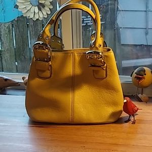 Tiignanello soft leather mustard colored handbag